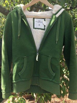 H&M L.O.G.G. Chaqueta de tela de sudadera verde bosque