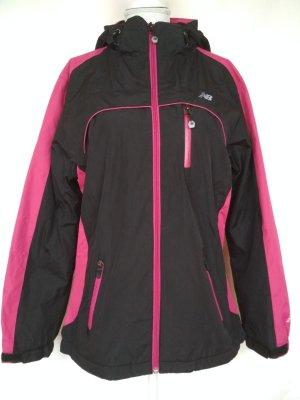 Gefütterte Jacke Gr. M schwarz/pink