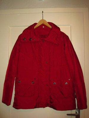Gefütterte Jacke in Rot