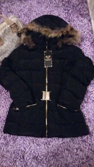 Donsjack zwart-goud