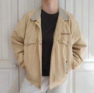 Gefütterte Jeansjacke Diesel Industry Jeans jacke True vintage L oversize beige creme Mantel
