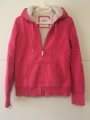 H&M L.O.G.G. Hooded Sweater raspberry-red