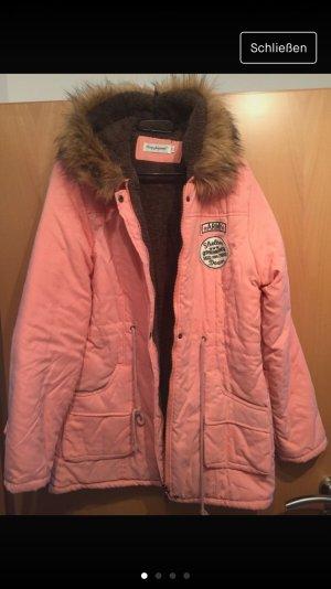 Hooded Coat dusky pink