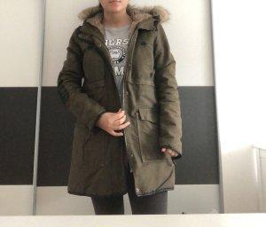 Zara Manteau d'hiver gris vert