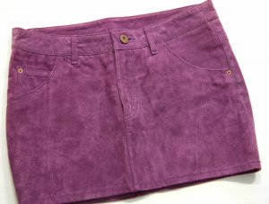 H&M Leather Skirt lilac-violet leather