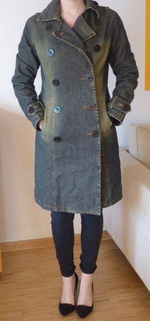 Gefütterter Mantel, von ONLY, Doppelreiher mit Gürtel, Gr.M