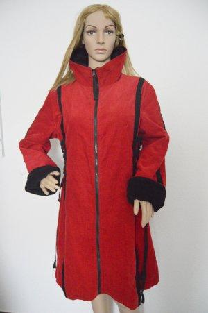 Abrigo rojo oscuro-negro