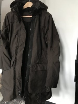 Eddie Bauer Heavy Pea Coat dark brown polyamide