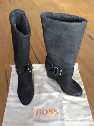 Boss Orange High Boots anthracite-taupe leather