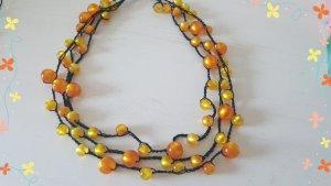 Necklace light orange-neon yellow
