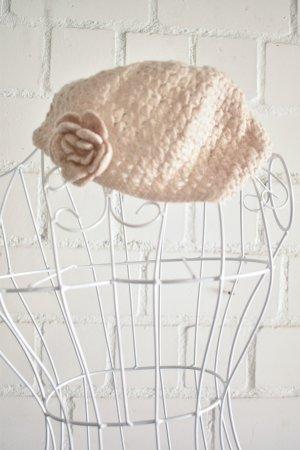 Primark Crochet Cap nude mixture fibre