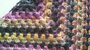 Neckerchief multicolored polyacrylic