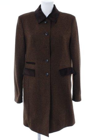 Geklede jas bruin-zwart bruin gestippeld casual uitstraling