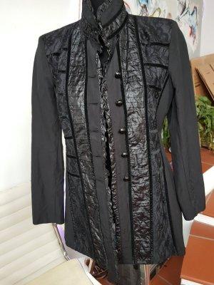 Chaqueta larga negro