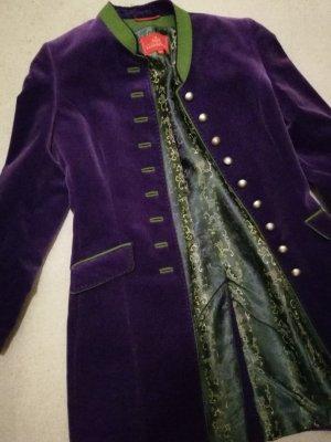 Redingote violet foncé-vert