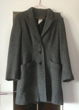 3 Suisses Frock Coat black-white wool