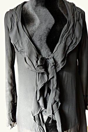 Redingote noir polyester