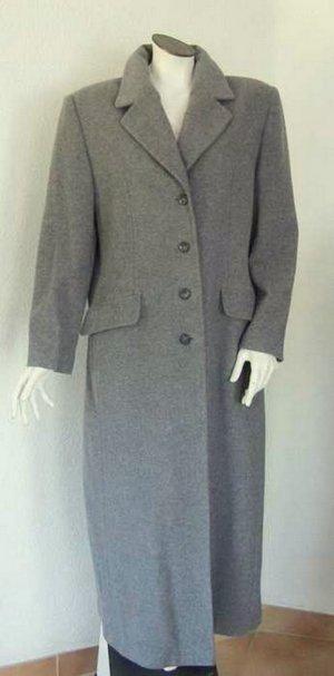 Gehrock mit Wolle Cashmere Damen Mantel grau