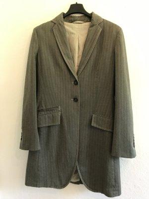 Cinque Frock Coat grey-grey brown cotton