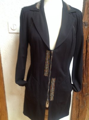 Save the Queen Frock Coat black-blue mixture fibre