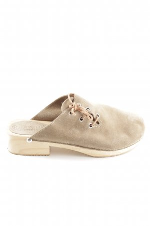 Geier Wally Clog Sandals cream casual look