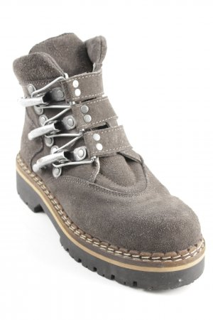 Geier Wally Lace-up Booties dark grey country style