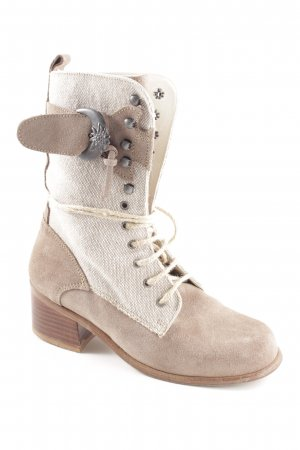 Geier Wally Lace-up Boots natural white-brown vintage look