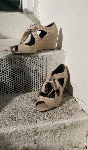 Geiger Sandalette Lack in beige Gr 37,5- 38