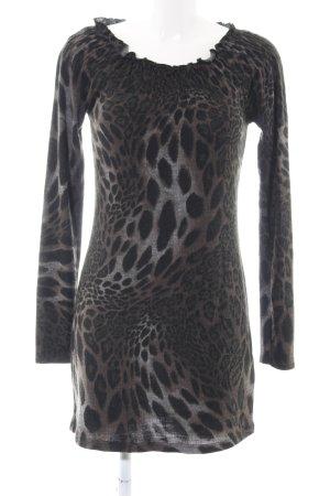 Geisha Off the shoulder jurk luipaardprint casual uitstraling
