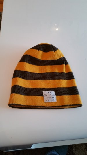 Protest Knitted Hat dark yellow-brown red