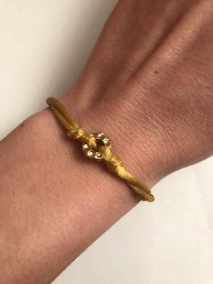 Gelb-goldenes Seidenarmband, Ettika