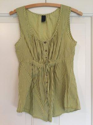 Gelb-grau gestreifte Bluse von Vero Moda