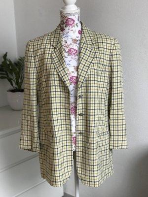 Gelb karierter Vintage Blazer / Jacket