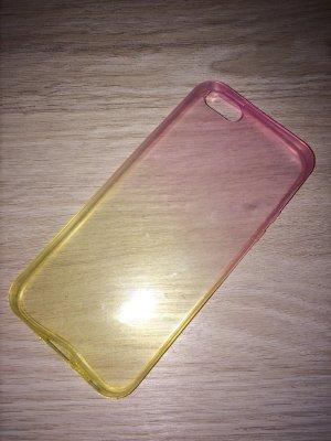 Gelb/ pink Durchsichtige Handyhülle