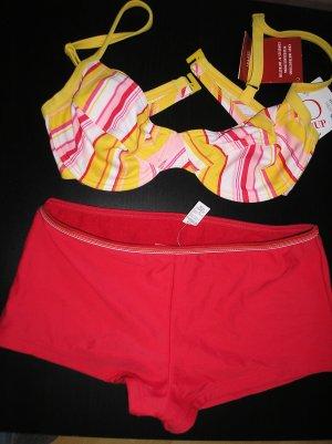 Gelb / roter Bikini Gr. 38 neu mit Etikett Esprit
