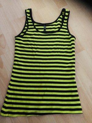 Gelb, schwarz gestreiftes Top