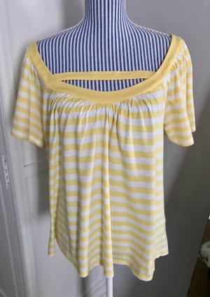 Gelb-weiß gestreiftes Shirt