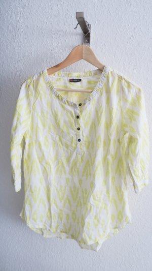 gelb weiße Bluse mit Muster 34/36