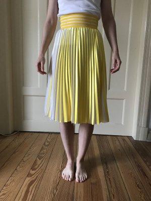 Falda a cuadros amarillo-blanco