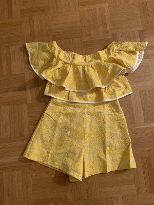 Simplee Tuta beige chiaro-giallo pallido