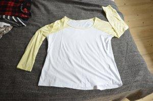 Gelb/weißes Baseballshirt von Atmosphere
