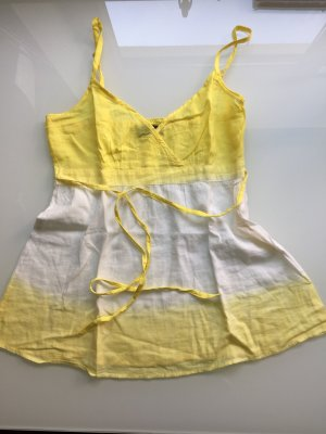 Gelb weißes lockeres Top