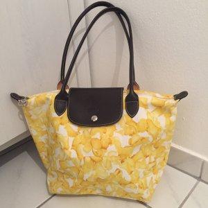 Gelbe Blumen Longchamp Tasche