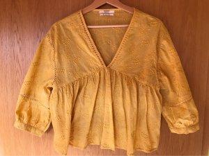 Pull & Bear Blusa caída amarillo