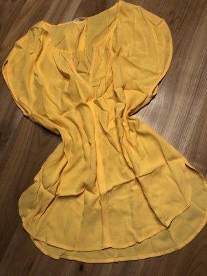 Gelbe Bluse - locker, leicht - 38