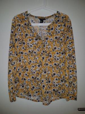 Gelbe Bluse mit Blumenprint