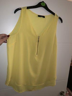 Gelbe Bluse mit Reißverschluss