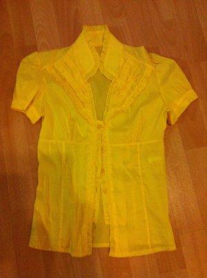 Gelbe Bluse mit Rüschchen