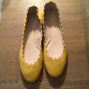 Chloé Mary Jane Ballerinas primrose-yellow leather