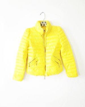 gelbe daunen / steppjacke / vintage / casual / yellow / boho
